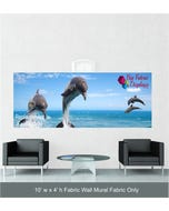 10' x 4' Fabric Wall Mural Replacement Fabric Only