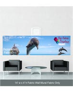 14' x 4' Fabric Wall Mural Replacement Fabric Only